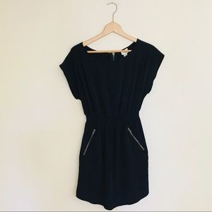 One Clothing Cap Sleeve Black Mini Dress Medium